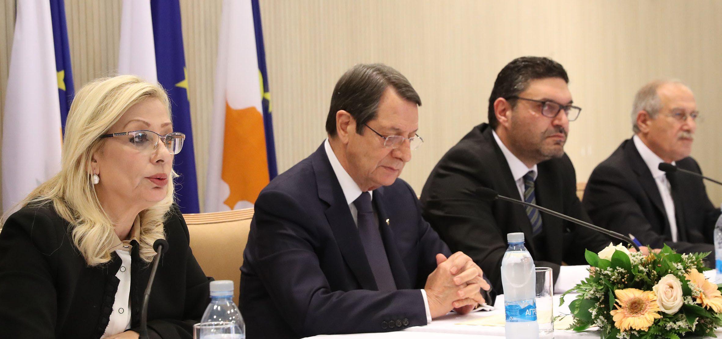 Προεδρικό Μέγαρο, Λευκωσία, Κύπρος  Δηλώσεις μετά το πέρας του Υπουργικού Συμβουλίου. // Presidential Palace, Lefkosia, Cyprus  Remarks to the Media after the meeting of the Council of Ministers.